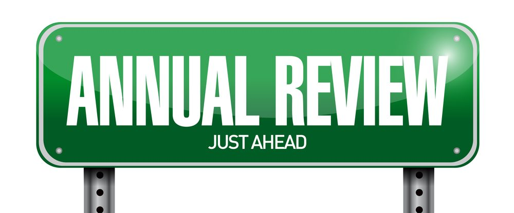 Annual Review sign